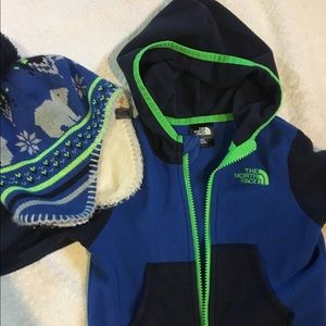 Infant Boys The North Face Fleece & Matching Hat